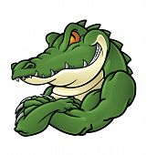 image of crocodiles  - Crocodile Mascot - JPG