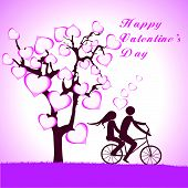 stock photo of tandem bicycle  - Doodle lovers - JPG