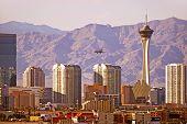 stock photo of las vegas casino  - Vegas Cityscape - JPG