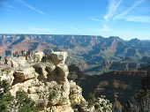 Viewing platform at the Great Canyon in Arizona