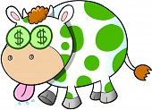 foto of cash cow  - Cash Cow Vector Illustration Art - JPG