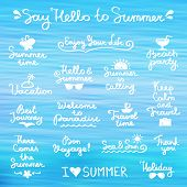 pic of bon voyage  - set of vector handwritten letterings and hand drawn elements for summer design - JPG