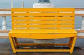foto of lawn chair  - Bench chair in the park   - JPG
