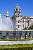 picture of masterpiece  - Jeronimos monastery seen from the Imperio garden in Lisbon - JPG