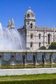 foto of masterpiece  - Jeronimos monastery seen from the Imperio garden in Lisbon - JPG