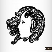 stock photo of virgo  - Zodiac signs black and white  - JPG