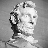stock photo of abraham  - Abraham Lincoln statue at the Lincoln Memorial - JPG