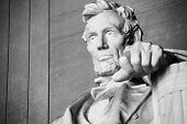 foto of slavery  - Abraham Lincoln statue at the Lincoln Memorial in Washington - JPG