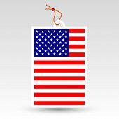 stock photo of eyeleteer  - vector simple american price tag  - JPG