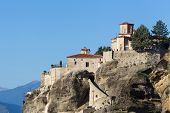 image of holy  - The Holy Monastery of Varlaam in Greece. The Holy Monastery of Varlaam is the second largest monastery in the Meteora complex. It was built in 1541 and embellished in 1548.