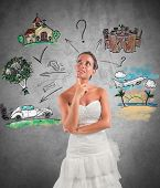 picture of ceremonial clothing  - Woman thinks how to organize her wedding - JPG