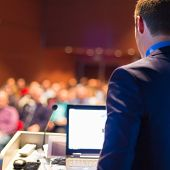 picture of entrepreneurship  - Speaker at Business Conference with Public Presentations - JPG