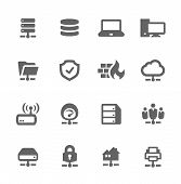 picture of workstation  - Simple Set of Network and Servers Related Vector Icons for Your Design - JPG
