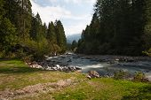 stock photo of genova  - Mountain river in Genova valley Natural Park Adamello Brenta Italy - JPG