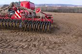 pic of plowing  - Sowing and plowing action in the spring season - JPG