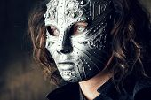 image of mystery  - Portrait of a mysterious man in iron mask - JPG