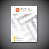 picture of maze  - Modern Vector abstract brochure - JPG