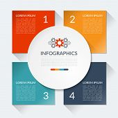 image of step-up  - Modern minimal business infographics circle - JPG
