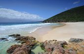 stock photo of wrecking  - Wreck Beach Port Stephens A relatively small but beautiful isolated beach in Port Stephens. There is no road access to this beach ** Note: Visible grain at 100%, best at smaller sizes - JPG