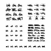 stock photo of truck farm  - Set icons of transport - JPG