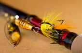 picture of spinner  - fly to tee spinner lures close - JPG