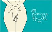 foto of genital  - vector illustration for women - JPG
