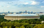 picture of gory  - big sports arena in Luzhniki Moscow - JPG