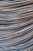 picture of reinforcing  - Reinforcing steel bars for building armature background - JPG