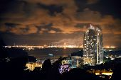 image of singapore night  - Singapore architecture and urban cityscape night view - JPG
