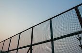 Постер, плакат: Steel mesh barrier Tennis Court