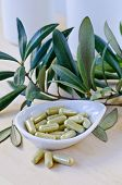 Постер, плакат: Olive Leaf Extract In Capsules Dietary Supplements