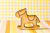 picture of wooden horse  - Wooden icon of children - JPG