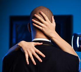 image of office romance  - Couple indoors - JPG