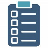 image of tasks  - Test task icon from Business Bicolor Set - JPG