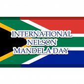 stock photo of nelson mandela  - illustration of a stylish text for International Nelson Mandela Day - JPG