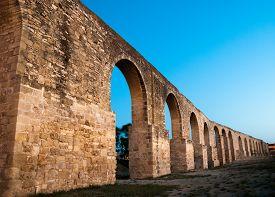 picture of larnaca  - Panorama of Ottoman Kamares Aqueduct  - JPG