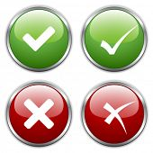 pic of question-mark  - vector check mark buttons - JPG