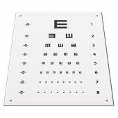 pic of snellen chart  - vector Snellen eye test chart - JPG