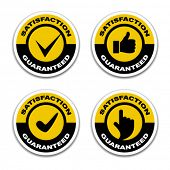 image of thumbs-up  - vector satisfaction guaranteed stickers - JPG