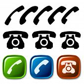 Vector alten Telefon-icons