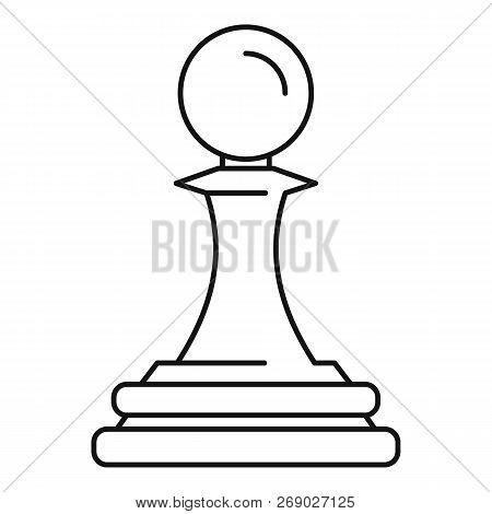 White Pawn Piece Icon Outline