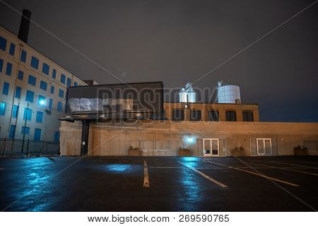Scary industrial urban street city