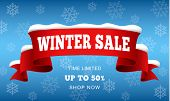 Big Winter Sale Concept Background. Realistic Illustration Of Big Winter Sale Vector Concept Backgro poster