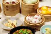Dim Sum In Bamboo Steamer, Animal Theme For Kids poster