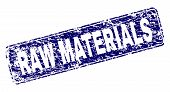 Raw Materials Stamp Seal Print With Distress Style. Seal Shape Is A Rounded Rectangle With Frame. Bl poster