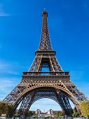 View To The Eiffel Tower In Paris, France. poster