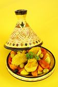 pic of tagine  - Moroccan chicken tagine - JPG