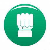 Hand Protest Icon. Simple Illustration Of Hand Protest Vector Icon For Any Design Green poster