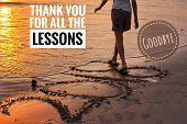 Inspirational Motivational Quote-goodbye 2018, Thank You For The Lessons.  An Illustration Image Wel poster