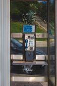 A Telephone Booth, Telephone Kiosk, Telephone Call Box, Telephone Box Or Public Call Box, Small Stru poster